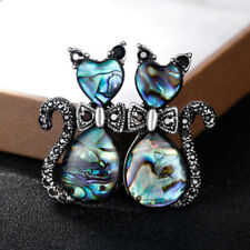 Lovely Women Rhinestone Cat Animal Metal Brooch Lapel Pin Fashion Accessories
