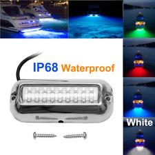 White 27LED 316 Stainless Steel Underwater Pontoon Marine/Boat Transom Lights