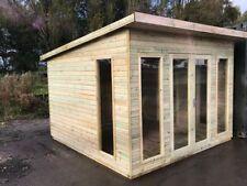 10x6 Summerhouse Pent Modern Heavy Duty Garden Office Shed Cabin T&G Tanalised