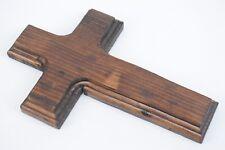 Old Rugged Cross Handmade Pine Wood 7x4.5in Wall Hanging Christian Crucifix 704