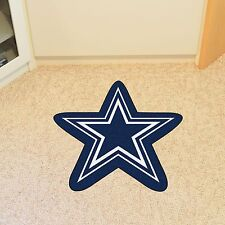 Dallas Cowboys NFL Mascot Shaped Area Rug Mat Great for the Man Cave Door