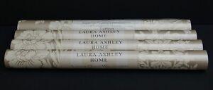 TATTON TRUFFLE OFF WHITE Laura Ashley Wallpaper X 4 Rolls (1 is different batch)