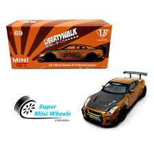 Mini GT 1:64 LB Works Nissan GT-R R35 (Metallic Brown) #69 Indonesia Exclusive