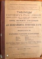 1904 Russia Railroad Book Distance Between Railway Stations