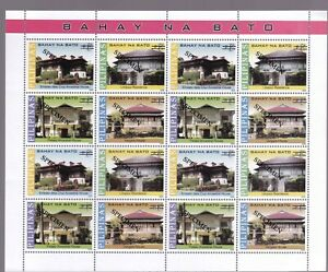 "Scarce Sheetlet Philippines SPECIMEN Architecture "" Bahay na Bato"" sht/16 NH"