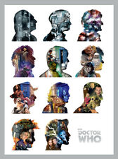 Doctor Who - Silhouettes - Ready Framed Canvas