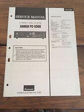 Sansui PC-V300 CD Player Manual & Schematics Factory Original Rare!