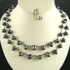 AU SELLER Lovely Handmade Double knotte Genuine Pearls Necklace 010697