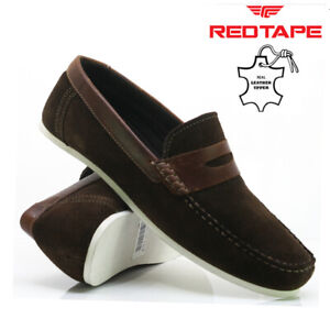 NEW MENS LEATHER SLIP ON LOAFERS CASUAL DRIVING BOAT DECK MOCCASIN SHOES SIZE