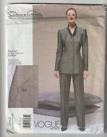 VOGUE pattern PANT SUIT Sz 14 16 18 Oscar de la Renta UNUSED American Designer U