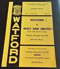 Watford v West Ham Dave Carr Benefit Programme 06/11/67