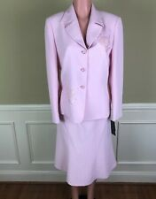 Nipon Boutique Womens Pink Skirt Suit Floral Sequin  Size 12 NEW $240