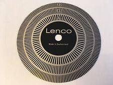 GOLDRING LENCO GL75/78 VINTAGE SWISS TURNTABLE STROBE