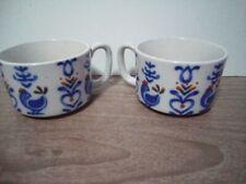 New listing 2 Gettysburg Avant-Garde Soup Coffee Mugs Rooster Design