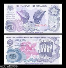 JUGOSLAVIA 50 Dinara 1990 P-101 prima prefisso AA Nuovo di zecca UNC banconote scarse