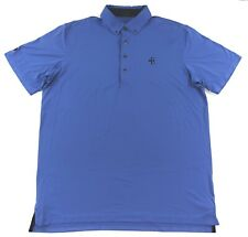 Greyson Golf Polo Shirt Mens Size Large Short Sleeve Poly Stretch Blue