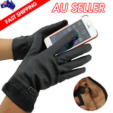 Women Winter Warm PU Leather Click Touch Screen Magic Gloves For Mobile Phone