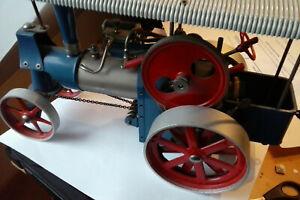 wilesco tracteur a vapeur vive dans sa boite d'origine version ancienne