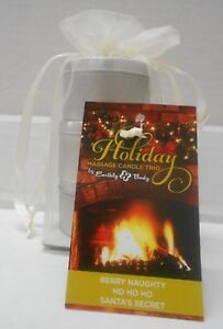 EARTHLY BODY Holiday Message Candle Trio~2 oz. candles ~ 3 Holiday Scents