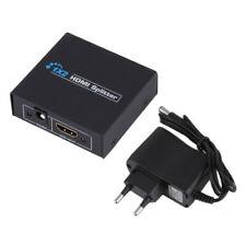 LK_ HK- Full HD 1x2 Port HDMI Splitter Amplifier Repeater 3D 1080p Female Swit