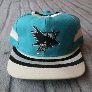 Vintage Rare 90s San Jose Sharks Snapback Hat by Twins Ent Cap