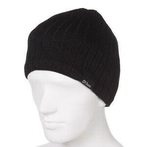 Chaos Men's Rib-knit Wool-Acrylic Warm Beanie Black