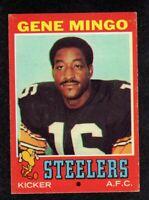 "1971 Topps #227 Gene Mingo Pittsburgh Steelers Football Card  ""mrp""  EX+"