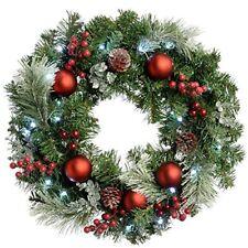 Werchristmas - Ghirlanda natalizia Decorativa illuminata da 20 LED Luce Bia...