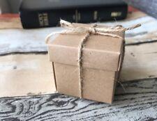 50x Kraft Paper Box Wedding Birthday Party Baby Shower Favors Christmas Gift Box