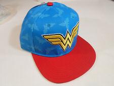 Wonder Woman Hat Girls Guys Snap Back Baseball Snapback Adjustable Flat Cap WW