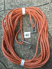 40 FT NEW 8MM ROPE. ReddIsh brown ANCHOR BOAT MOORING + SNAP HOOK & d shackle x