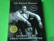 RARE ~ SIGNED x AMERICAN ACTOR ~ SIDNEY POITIER ~ LIFE BEYOND MEASURE