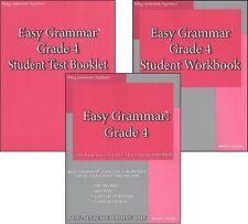 Easy Grammar Systems Grade 4 SET of 3  -  NEW