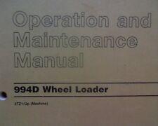 Caterpillar 994D Wheel Loader, operation and maintenance manual book 994 D