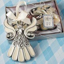 1 Shimmering Angel Ornament Favor Wedding Reception Christmas Baptism Party Gift