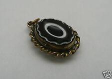 pendentif breloque ancien pomponne 1900/1910 a ouverture secret et verre taillé