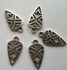 20pcs Tibetan silver Hollow out leaves charm pendant 24x13mm