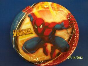 "Spider Sense Spider-Man Comic Superhero Birthday Party 9"" Paper Dinner Plates"