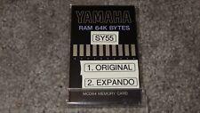 YAMAHA MCD64 RAM 64K BYTES MEMORY CARD