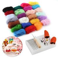 UK 25 Colour Wool Felt Needles Tool Set Starter Needle Felting Mat Starter DIY