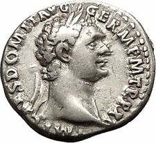 DOMITIAN son of Vespasian Silver Ancient Roman Coin Athena Minerva Cult i51171