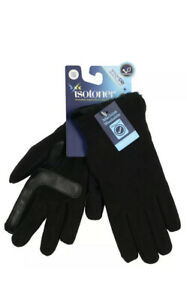 ISOTONER Wms SmartDri Stretch Cold Weather Gloves One Size Black Smartouch NWT