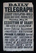 More details for phoenix park murders 1883 newspaper bills for the execution of joe brady- dublin