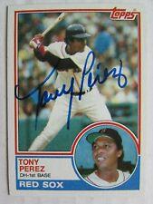 1983 Topps #715 Tony Perez Signed Card Guaranteed Authentic MB508