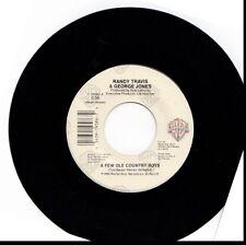 RANDY TRAVIS & GEORGE JONES FEW OLE COUNTRY BOYS/SMOKIN' THE HIVE 45RPM VINYL