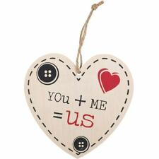Valentines Day Wedding Gift Wooden Shabby Chic YOU + ME = US wooden Heart Sign