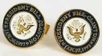 UNITED STATES PRESIDENT BILL CLINTON INAUGURATION CUFFLINKS WHITE HOUSE SEAL !