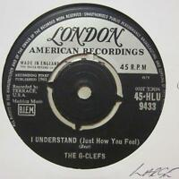 "The G.Clefs(7"" Vinyl 1st Issue )I Understand / Little Girl I Love You-UK-Ex/Ex"