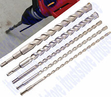5 PC 16 in. LONG MASONRY BRICK DRILL BIT CHISEL SET CONCRETE BIT SDS SHANK