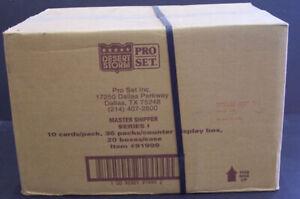 1991 PRO SET DESERT STORM SERIES 1 TRADING CARD CASE 20 BOXES